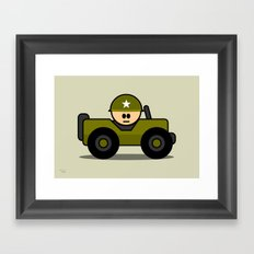 Little Soldier Jeep Military Art, Military Wall Art for Boys Room Nursery Decor Framed Art Print