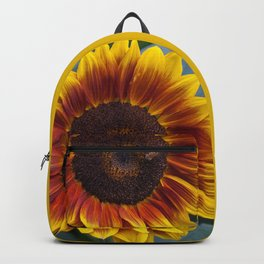 Red Sunflower with Bee Backpack