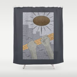 All Barriers Crumble and Fall - (Artifact Series) Shower Curtain