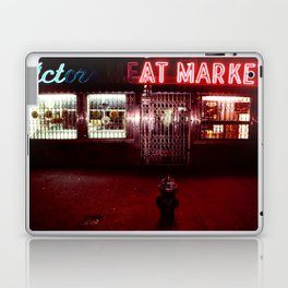 Night Lights Victors Meat Market, NYC Laptop & iPad Skin