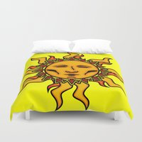 sublime Duvet Covers featuring Sublime Sun #2 Psychedelic Character Design Logo by CAP Artwork & Design