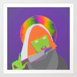 Neon Queen of Halloween Art Print