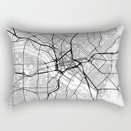 Dallas Map White Rectangular Pillow