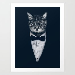 Mr Cat Art Print