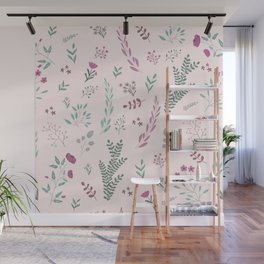 Floreal pattern Wall Mural