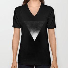White Dot Triangle Unisex V-Neck