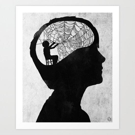 Musarañas (black and white) Art Print