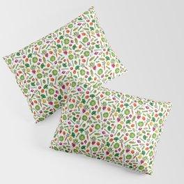 Vegetable Garden - Summer Pattern With Colorful Veggies Pillow Sham