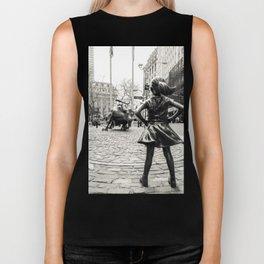 Fearless Girl & Bull NYC Biker Tank