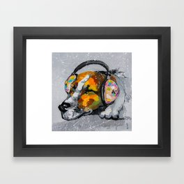 Blues for dog Framed Art Print