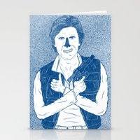 han solo Stationery Cards featuring Han Solo by David Penela