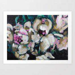 Blurred Vision Series - Blush Peonies No. 1 Art Print
