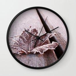 Frosty leaf Wall Clock