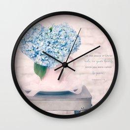 Hydrangea Heart* Wall Clock