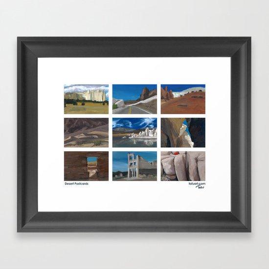 Desert Postcards Framed Art Print