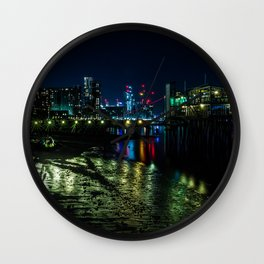 Night at the Docks Wall Clock