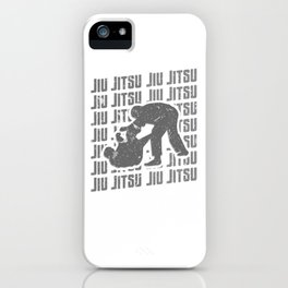 Jiu Jitsu Repeat Combat Grappler Silver iPhone Case