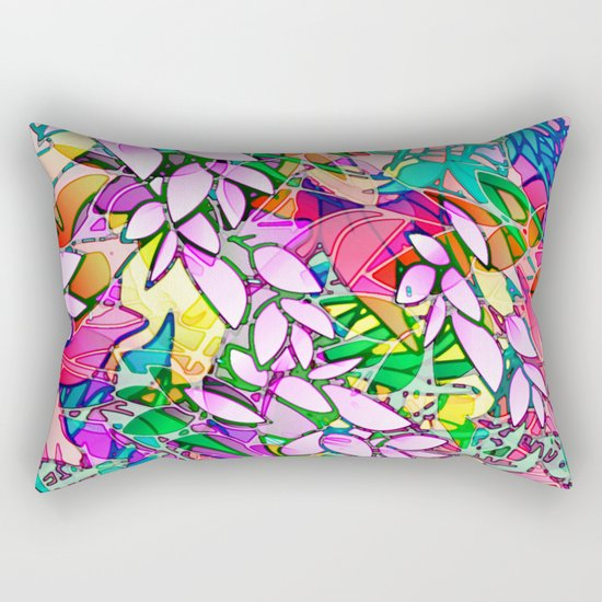Grunge Art Floral Abstract G130 Rectangular Pillow
