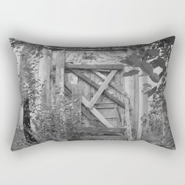 "Door to the deep down ""LIME"" Rectangular Pillow"