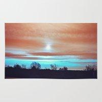 night sky Area & Throw Rugs featuring Night sky by J's Corner