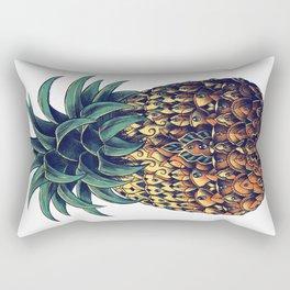 Ornate Pineapple (Colored) Rectangular Pillow