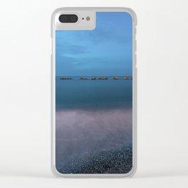 Night seascape Clear iPhone Case
