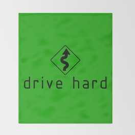 Drive Hard v7 HQvector Throw Blanket