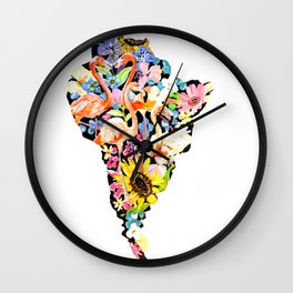 South America Wall Clock