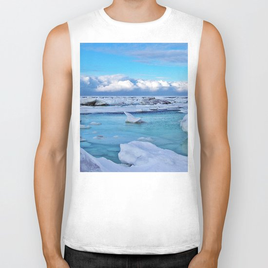 Frozen, and clouds on the Horizon Biker Tank