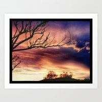 one tree hill Art Prints featuring one tree hill by KaliBear