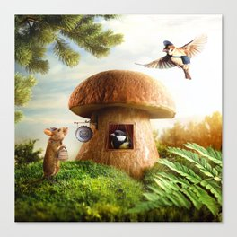 Post office for small animals Canvas Print