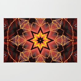 Kaleidoscope fantasy on lights in the shape of a bison! Rug