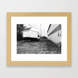Back Lot.  Framed Art Print