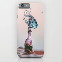 Red and Blue Water drop collision iPhone Case