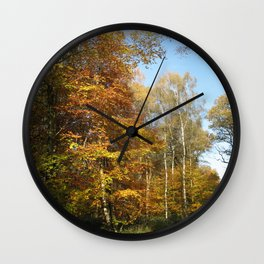 Autumnal Path Wall Clock