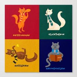 Hogwarts Cat Houses Canvas Print