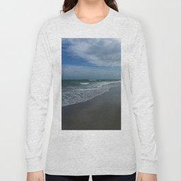 Serene Beach Scene Long Sleeve T-shirt