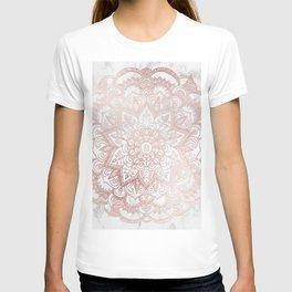 Rose Gold Mandala Star T-shirt