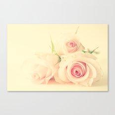 Peachy Roses  Canvas Print