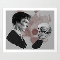 hamlet Art Prints featuring Hamlet  by Cécile Pellerin