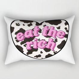 eat the rich! <3 Rectangular Pillow