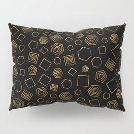 Polygons on Black background Pillow Sham