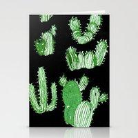 cactus Stationery Cards featuring Cactus Beard Dude by David Penela