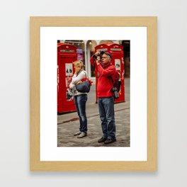 American Tourist wife Wife  Framed Art Print
