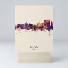 Kolkata (Calcutta) India Skyline Mini Art Print