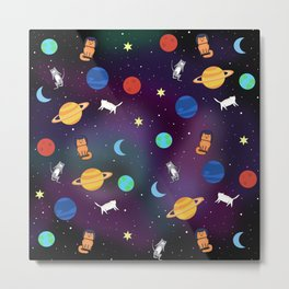 """Cats from outer space!"" Galaxy Print Metal Print"
