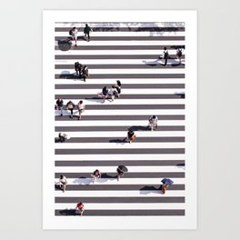 Pedestrians Art Print