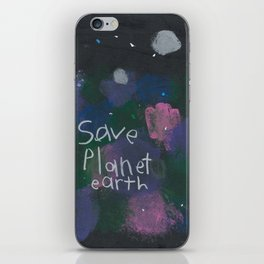 Save Planet Earth iPhone Skin