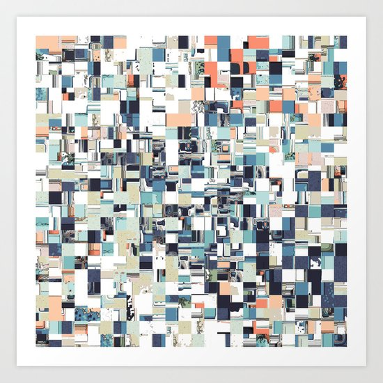 Abstract Jumbled Mosaic Art Print