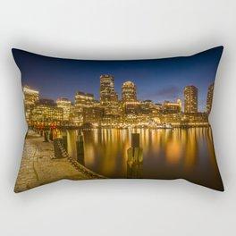 BOSTON Fan Pier Park & Skyline in the evening Rectangular Pillow